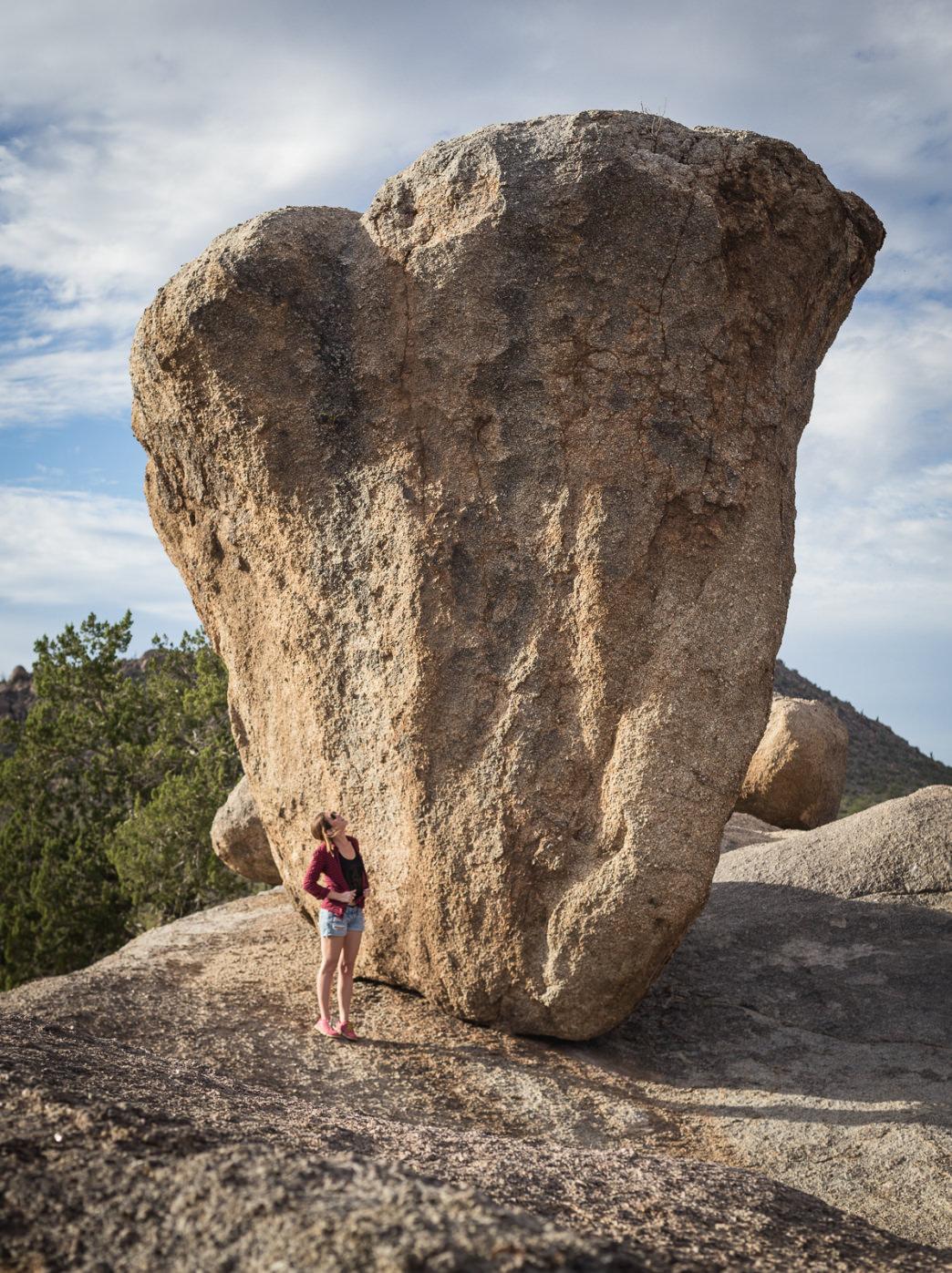 balanced rock hiking