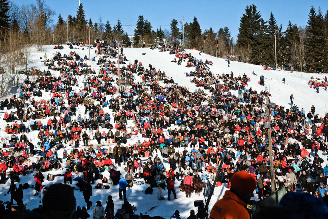 Ski resorts can get verrrrry crowded this time of year.