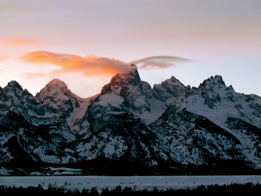 February in the Tetons