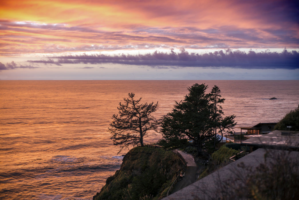 Not a bad view to take in from the hot springs at Esalen.