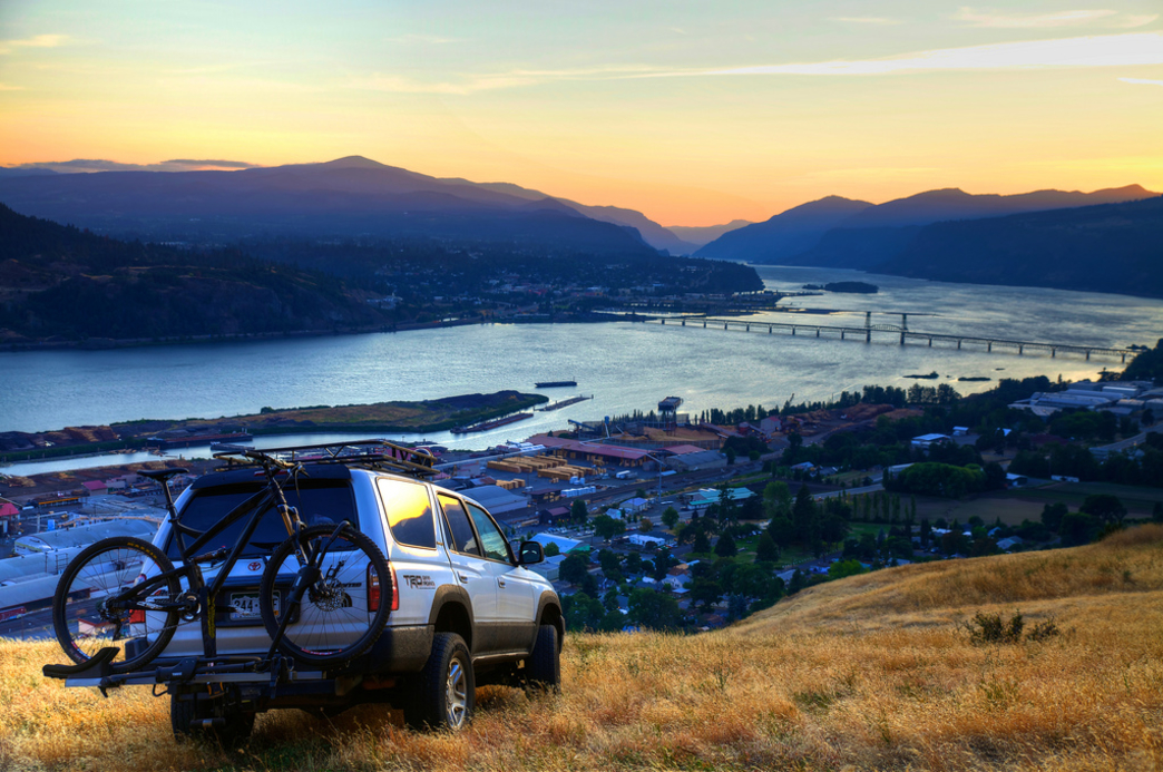 Admiring the breathtaking scenery near Hood River, OR